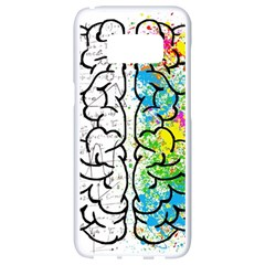 Brain Mind Psychology Idea Hearts Samsung Galaxy S8 White Seamless Case