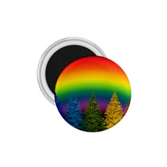 Christmas Colorful Rainbow Colors 1 75  Magnets