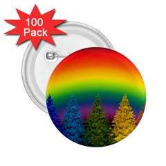 Christmas Colorful Rainbow Colors 2 25  Buttons (100 Pack)