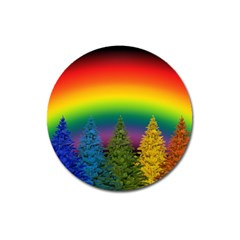 Christmas Colorful Rainbow Colors Magnet 3  (round)