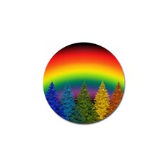 Christmas Colorful Rainbow Colors Golf Ball Marker (10 Pack)