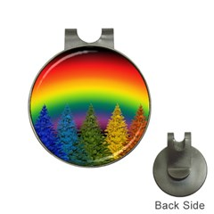 Christmas Colorful Rainbow Colors Hat Clips With Golf Markers