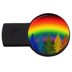 Christmas Colorful Rainbow Colors Usb Flash Drive Round (4 Gb)