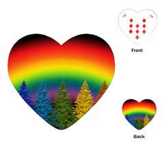 Christmas Colorful Rainbow Colors Playing Cards (heart)