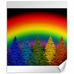 Christmas Colorful Rainbow Colors Canvas 8  X 10