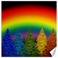 Christmas Colorful Rainbow Colors Canvas 16  X 16