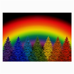 Christmas Colorful Rainbow Colors Large Glasses Cloth (2 Side)