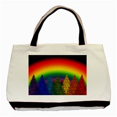 Christmas Colorful Rainbow Colors Basic Tote Bag (two Sides)
