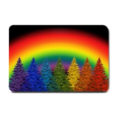 Christmas Colorful Rainbow Colors Small Doormat