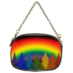 Christmas Colorful Rainbow Colors Chain Purses (one Side)
