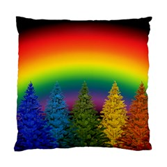 Christmas Colorful Rainbow Colors Standard Cushion Case (two Sides)