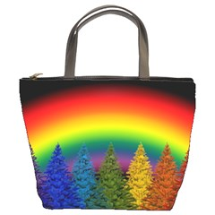 Christmas Colorful Rainbow Colors Bucket Bags