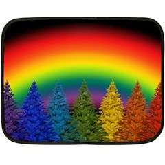 Christmas Colorful Rainbow Colors Double Sided Fleece Blanket (mini)