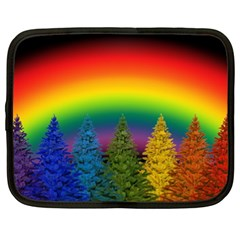 Christmas Colorful Rainbow Colors Netbook Case (xxl)