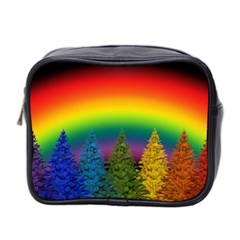 Christmas Colorful Rainbow Colors Mini Toiletries Bag 2 Side