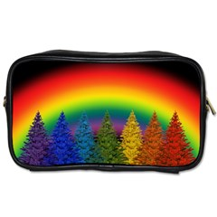 Christmas Colorful Rainbow Colors Toiletries Bags 2 Side