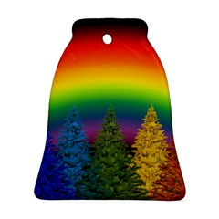 Christmas Colorful Rainbow Colors Ornament (bell)