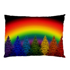 Christmas Colorful Rainbow Colors Pillow Case (two Sides)