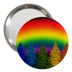 Christmas Colorful Rainbow Colors 3  Handbag Mirrors