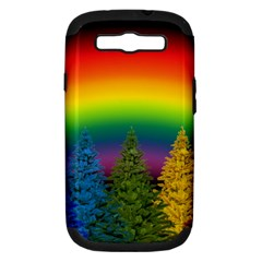 Christmas Colorful Rainbow Colors Samsung Galaxy S Iii Hardshell Case (pc+silicone)