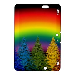 Christmas Colorful Rainbow Colors Kindle Fire Hdx 8 9  Hardshell Case