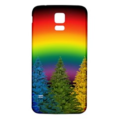 Christmas Colorful Rainbow Colors Samsung Galaxy S5 Back Case (white)
