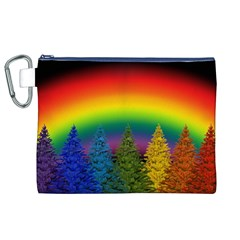 Christmas Colorful Rainbow Colors Canvas Cosmetic Bag (xl)
