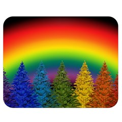 Christmas Colorful Rainbow Colors Double Sided Flano Blanket (medium)
