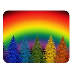 Christmas Colorful Rainbow Colors Double Sided Flano Blanket (large)