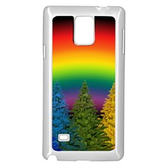 Christmas Colorful Rainbow Colors Samsung Galaxy Note 4 Case (white)