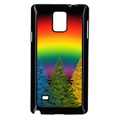 Christmas Colorful Rainbow Colors Samsung Galaxy Note 4 Case (black)