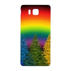 Christmas Colorful Rainbow Colors Samsung Galaxy Alpha Hardshell Back Case
