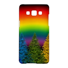 Christmas Colorful Rainbow Colors Samsung Galaxy A5 Hardshell Case