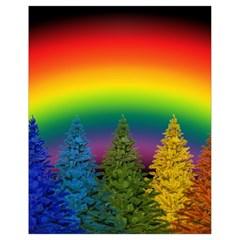 Christmas Colorful Rainbow Colors Drawstring Bag (small)