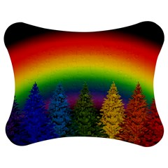 Christmas Colorful Rainbow Colors Jigsaw Puzzle Photo Stand (bow)