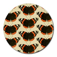 Butterfly Butterflies Insects Round Mousepads