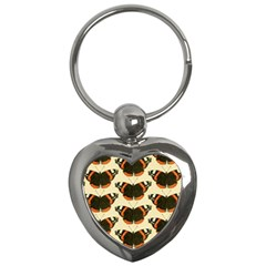 Butterfly Butterflies Insects Key Chains (heart)