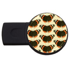Butterfly Butterflies Insects Usb Flash Drive Round (4 Gb)