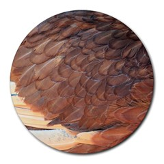 Feather Chicken Close Up Red Round Mousepads