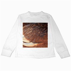 Feather Chicken Close Up Red Kids Long Sleeve T Shirts