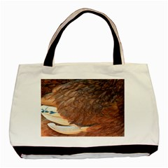 Feather Chicken Close Up Red Basic Tote Bag
