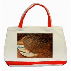 Feather Chicken Close Up Red Classic Tote Bag (red)