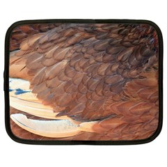 Feather Chicken Close Up Red Netbook Case (large)