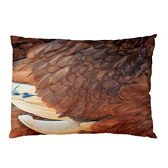 Feather Chicken Close Up Red Pillow Case