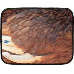 Feather Chicken Close Up Red Fleece Blanket (mini)