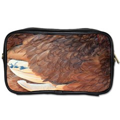 Feather Chicken Close Up Red Toiletries Bags
