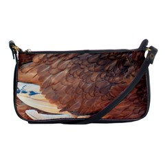 Feather Chicken Close Up Red Shoulder Clutch Bags