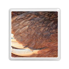 Feather Chicken Close Up Red Memory Card Reader (square)