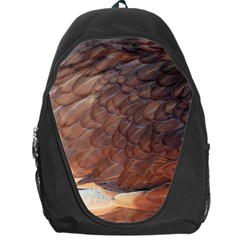 Feather Chicken Close Up Red Backpack Bag
