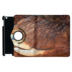 Feather Chicken Close Up Red Apple Ipad 3/4 Flip 360 Case